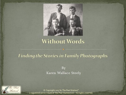 Finding the Stories in Family Photographs
