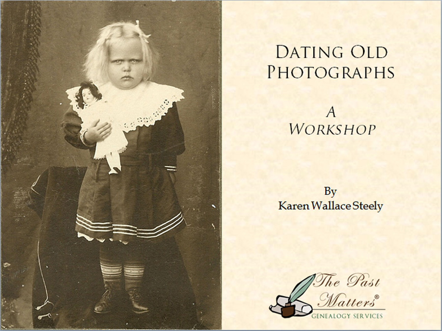 Genealogy dating of old photographs