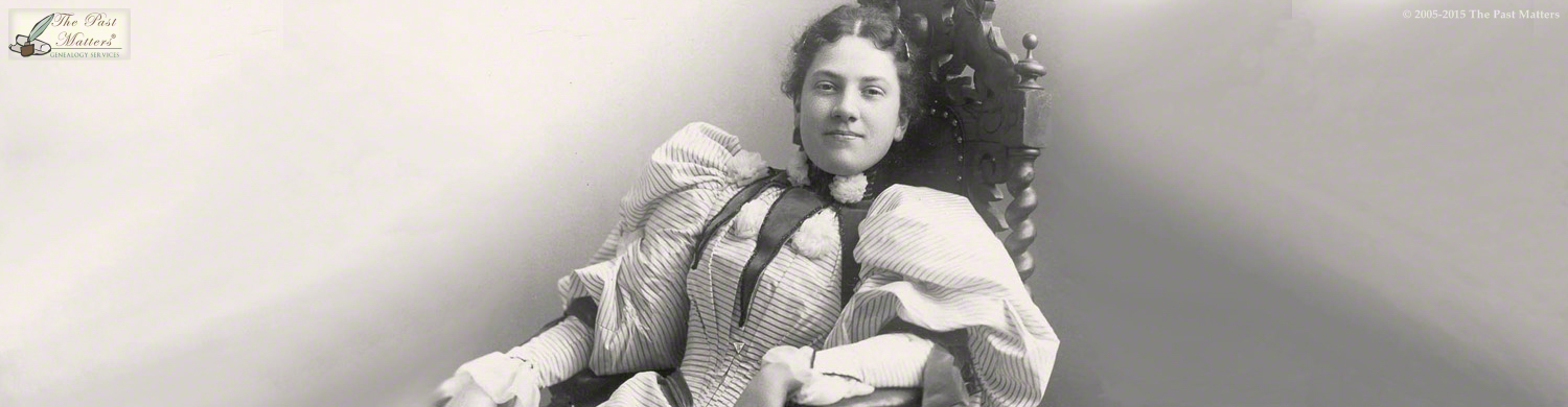 Carolyn Belle Bryant in May 1895, while she was a student at the Mount Vernon Seminary in Washington, D.C.