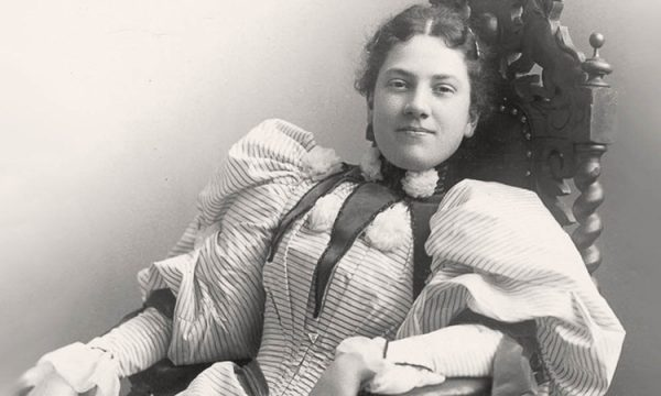 Carolyn Belle Bryant in May 1895, while she was a student at the Mount Vernon Seminary in Washington, D.C. Taken by Stalee Photography.