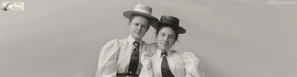Carolyn Belle Bryant and Mary McCoy in May 1895, while they were students at the Mount Vernon Seminary in Washington, D.C.