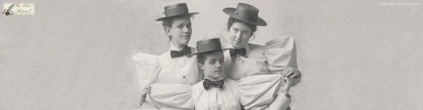Bessie Bailey, Elsie Gould, and Louise Hoge in May 1895, while they were students at the Mount Vernon Seminary in Washington, D.C.