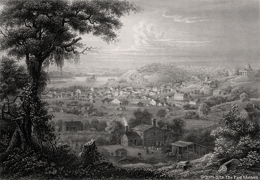 Saint Joseph, Buchanan County, Missouri about 1853. Steel engraving from
