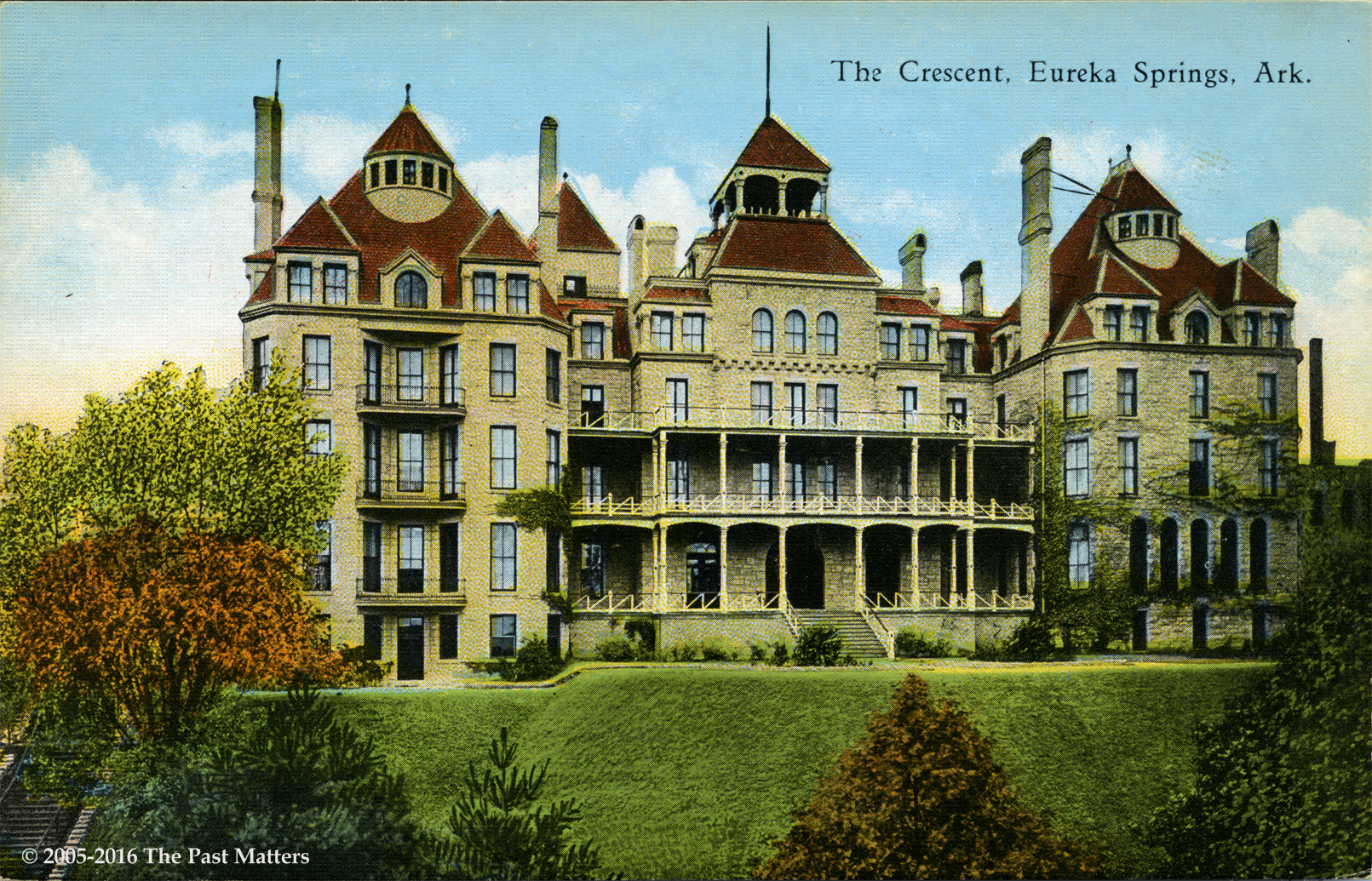 Engravings postcards the past matters for Eureka house