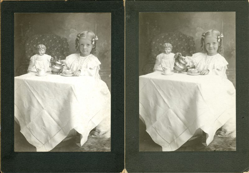 Two photographs of Dana Margaret Williams, probably 2 Aug 1901
