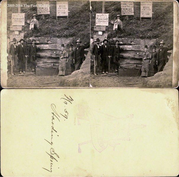 A view of Harding Spring in Eureka Springs, Arkansas, no. 59, taken by F. F. Fyler circa 1875.