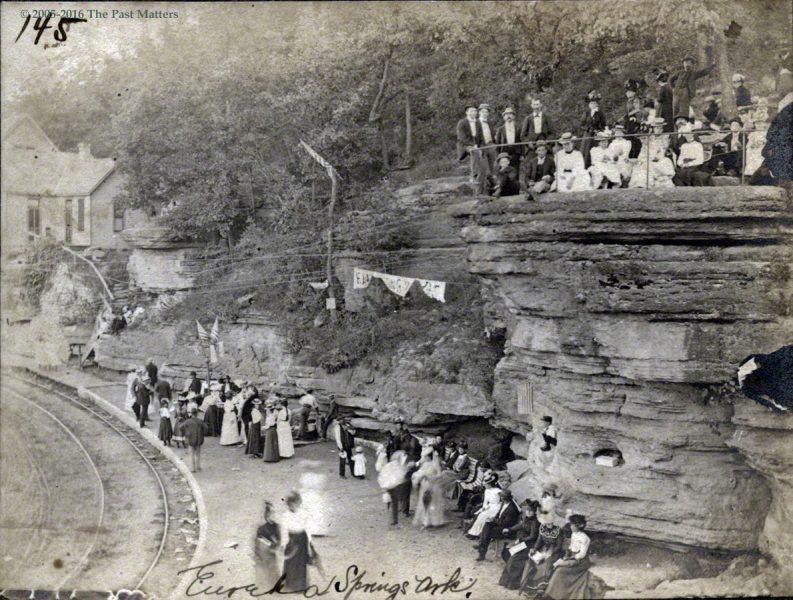 """""""Lovers' Leap"""" in Eureka Springs, Arkansas circa 1900"""