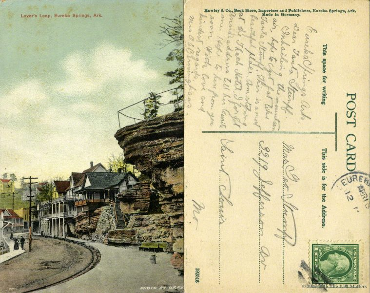 Lover's Leap in Eureka Springs, Arkansas about 1909