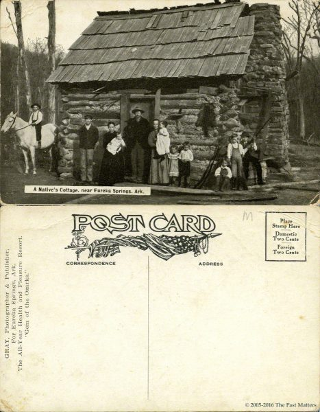 A native's cottage in Eureka Springs, Arkansas about 1910