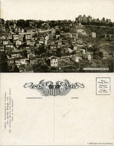 City view in Eureka Springs, Arkansas about 1910
