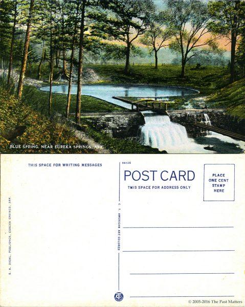 Blue Spring in Eureka Springs, Arkansas about 1920