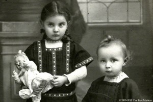 Children with German Character Dolls