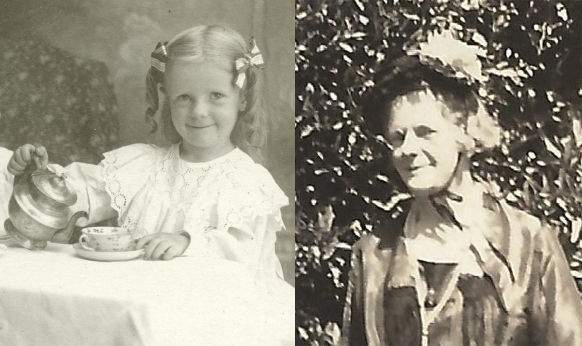 Dana Margaret Williams circa 1901 and 1950